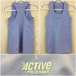 Old Navy Active Tank w/ Built in Shelf Bra  Size S
